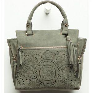 Tillys Violet Ray Green Travel Bag Purse Large